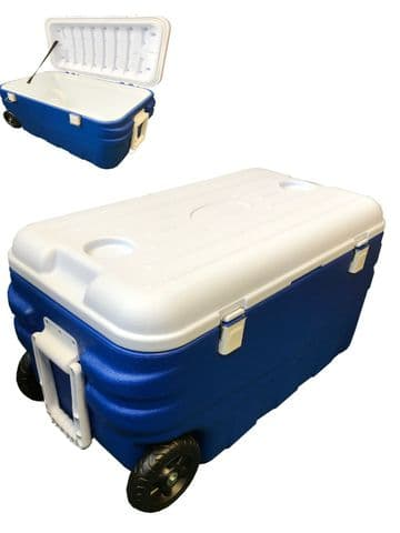 80L COOLER BOX insulated with wheels COOLBOX camping picnic caravan boat travel